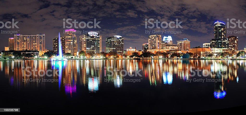 Orlando night panorama royalty-free stock photo