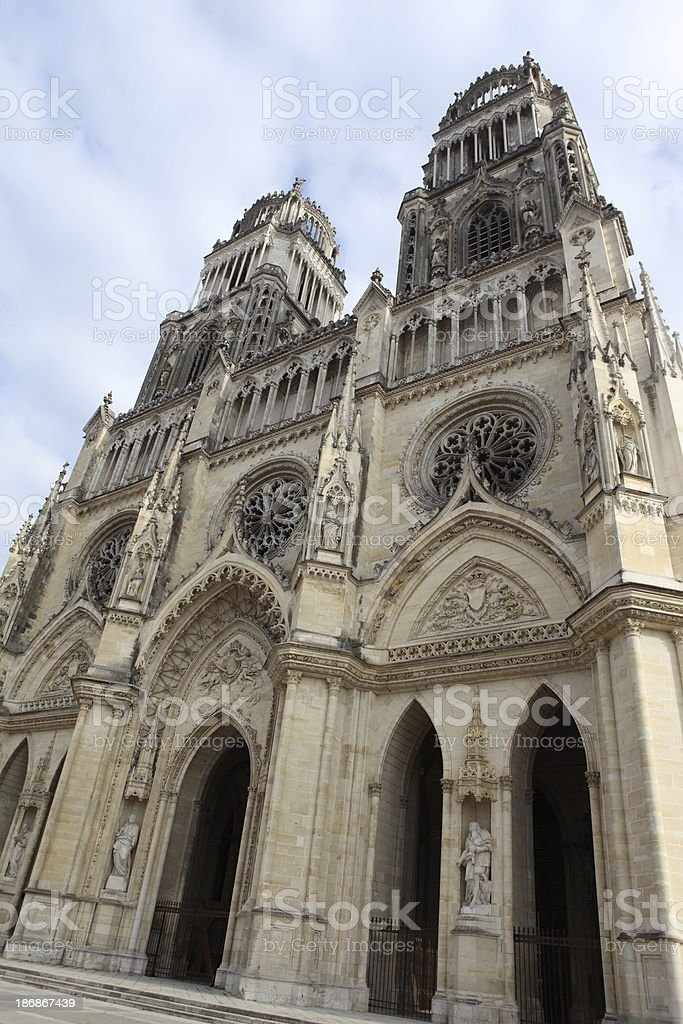 Orléans cathedral, France royalty-free stock photo