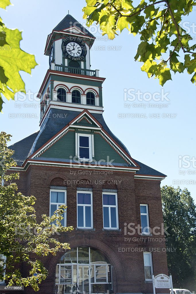 Orleans County Courthouse in Newport, Vermont royalty-free stock photo