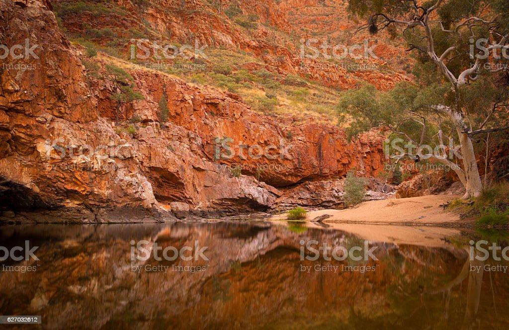 Ormiston Gorge Central Australia stock photo