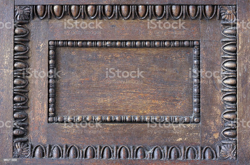 Ornament decoration on wood royalty-free stock photo
