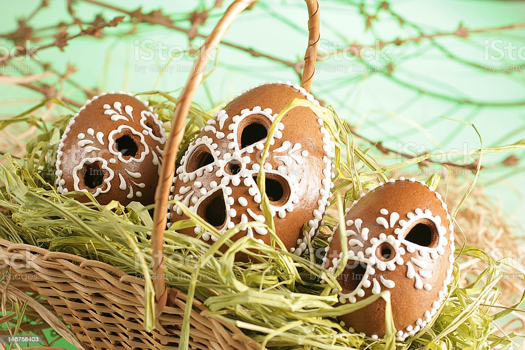 Ornament easter eggs royalty-free stock photo