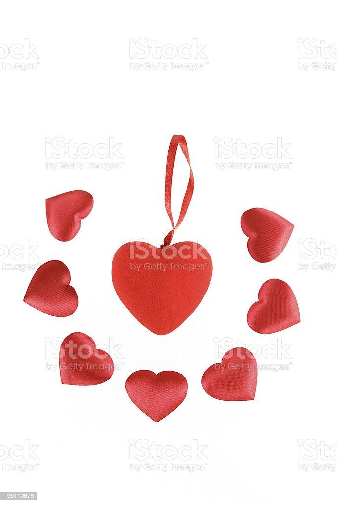 Ozdoba z jedwabiu serca zbiór zdjęć royalty-free