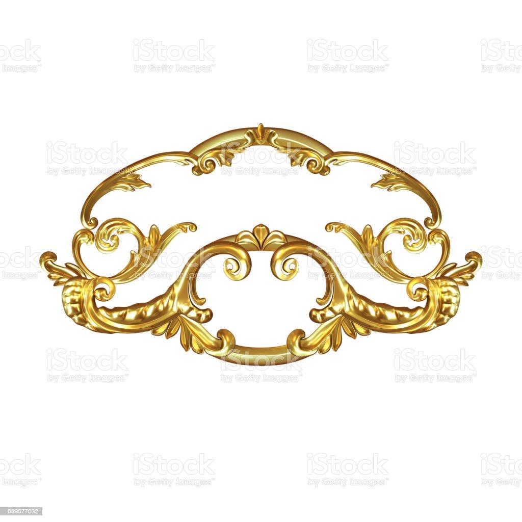 ornament gold stock photo