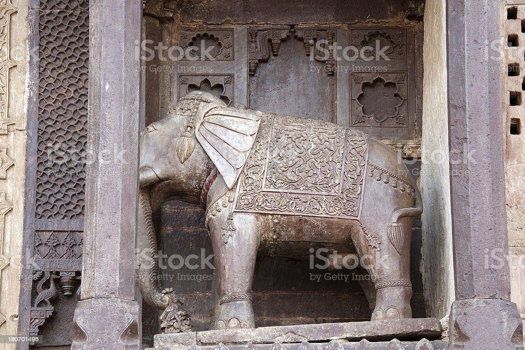 Ornament in Orchha Palace - Madhya Pradesh stock photo