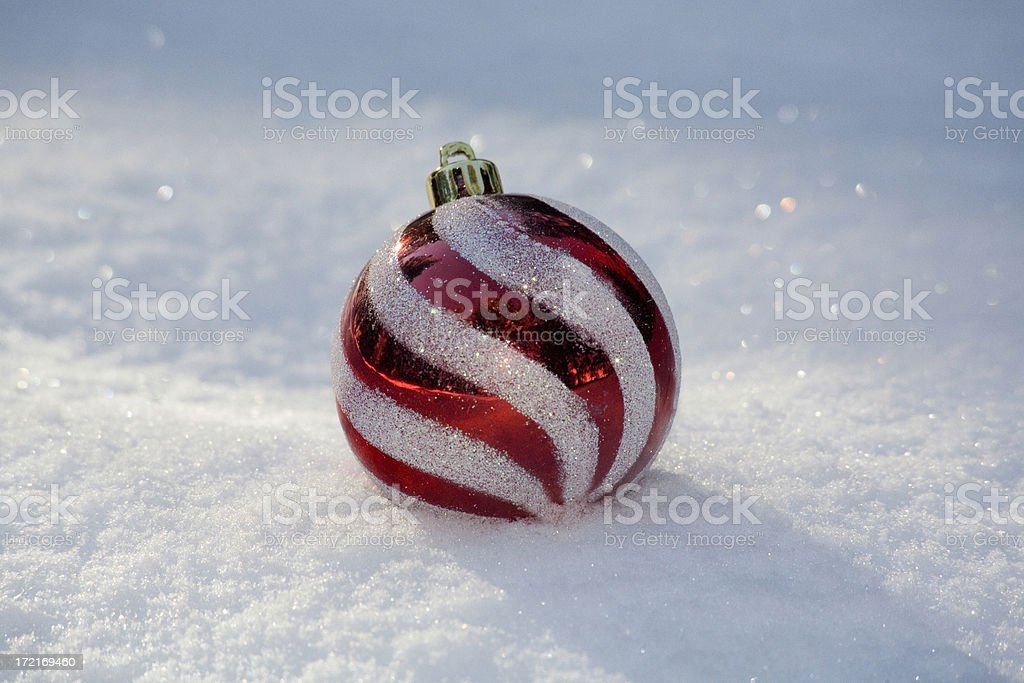 ornament in snow royalty-free stock photo