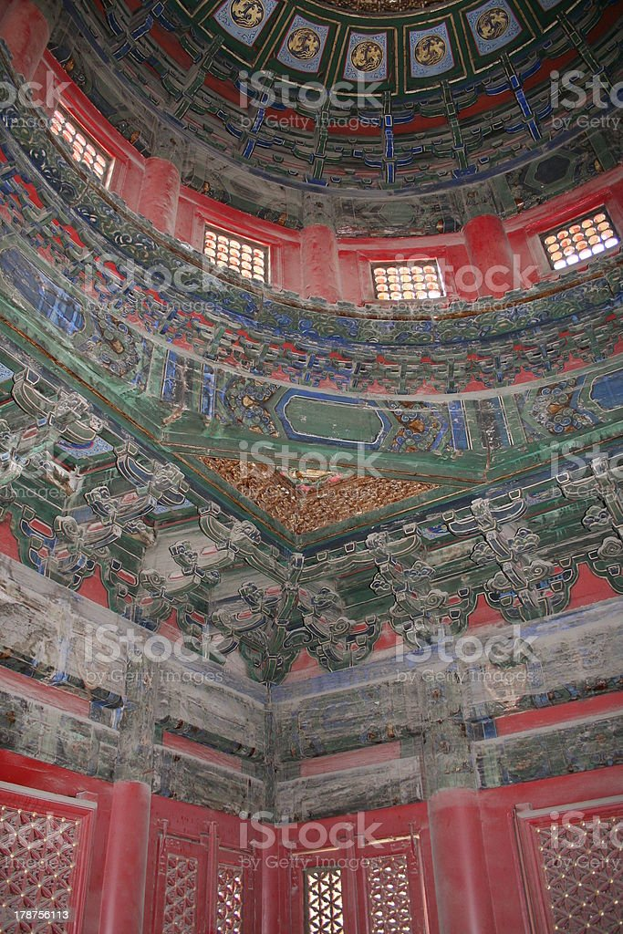 Ornament inside a Buidling Imperial Garden, Forbidden City, Beijing, China royalty-free stock photo