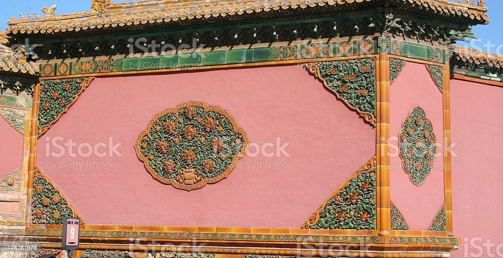 Ornament, The Gate of Heavenly Purity, Forbidden City,  Beijing, China royalty-free stock photo