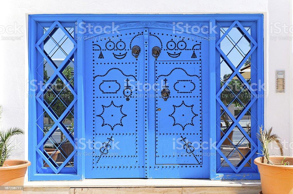 Ornamental Blue Doors. royalty-free stock photo