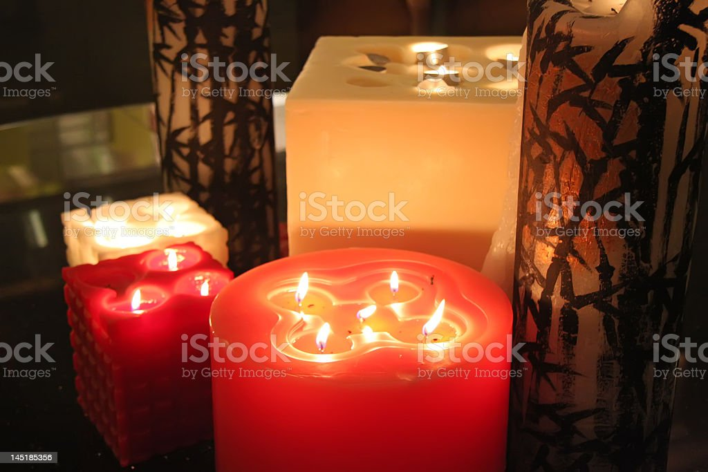 Ornamental candles royalty-free stock photo