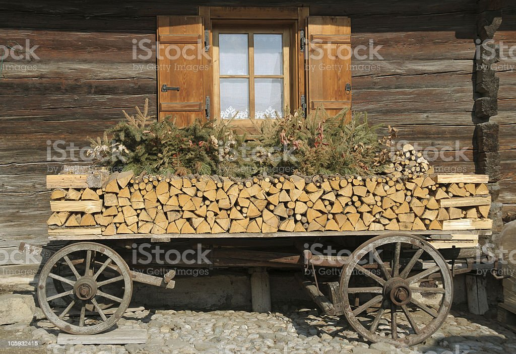 Ornamental cart stock photo
