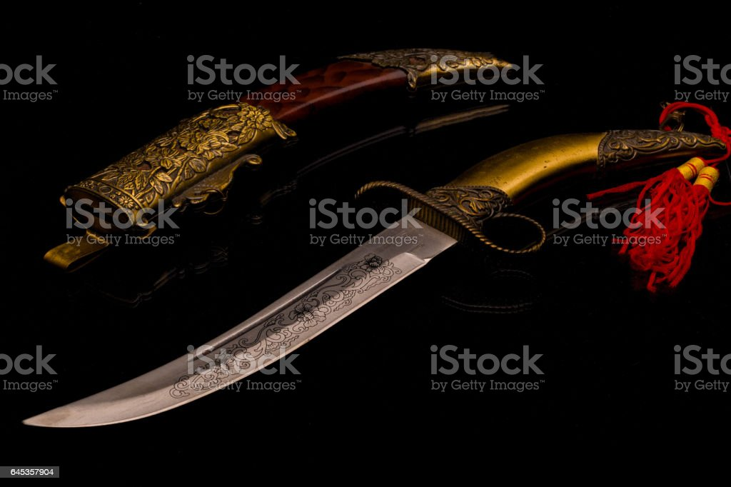 Ornamental Curved Knife stock photo