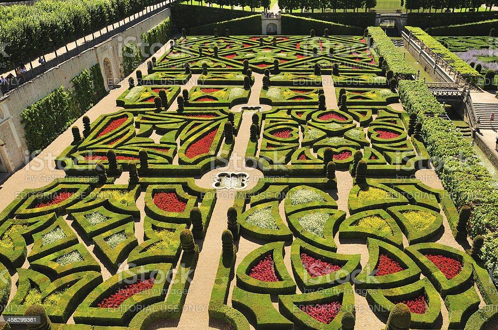 Ornamental Garden at Château de Villandry stock photo