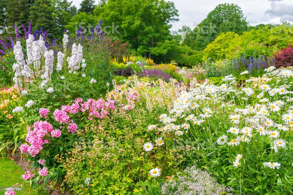 Ornamental garden Flower beds stock photo
