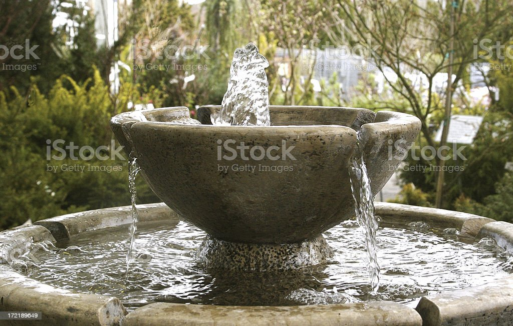 Ornamental Garden Fountain stock photo