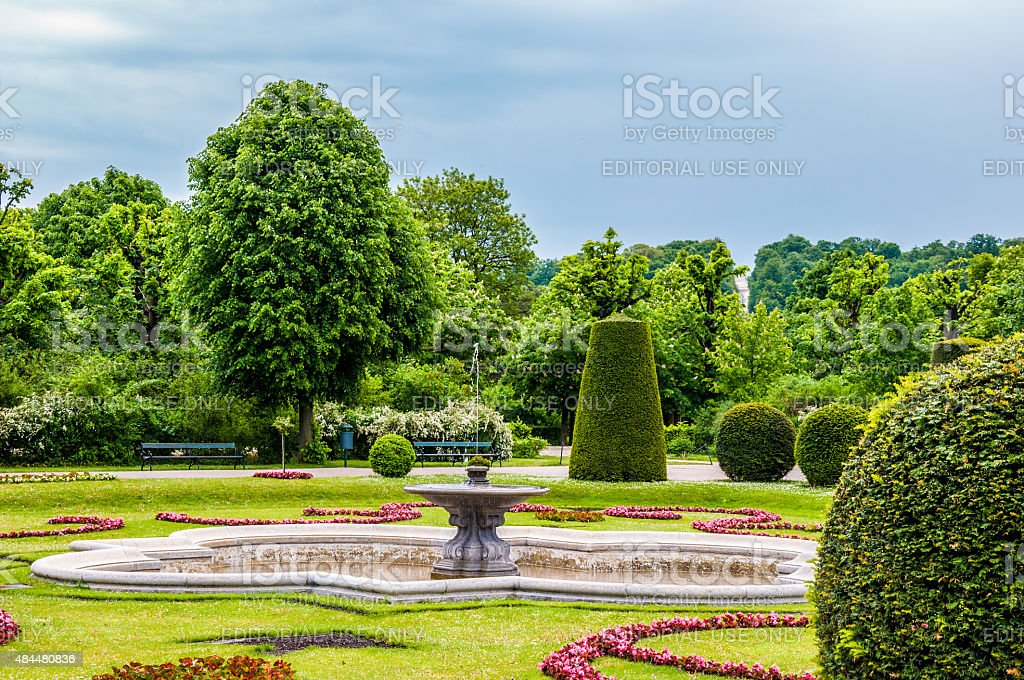 Ornamental garden of Sch?nbrunn Palace, ViennaOrnamental Sch?nbrunn Palace Garden, Vienna stock photo