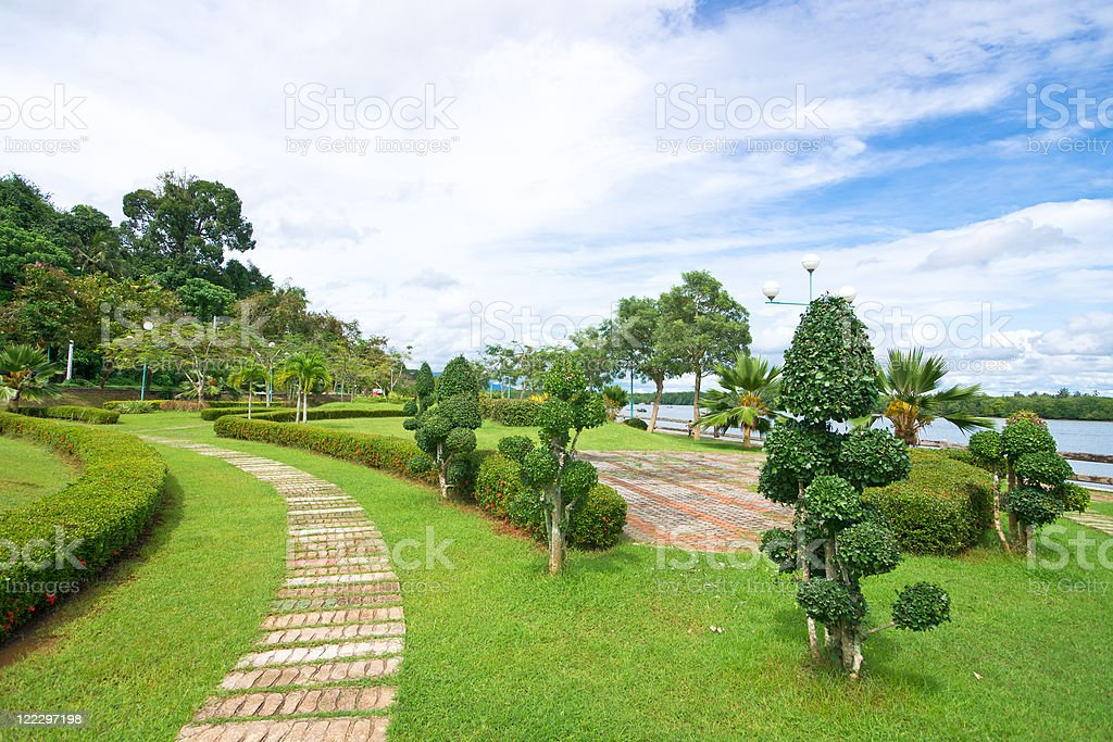 Ornamental garden stock photo