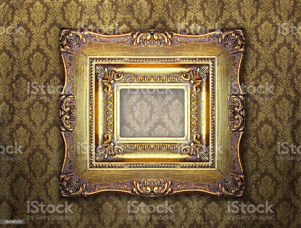 Ornamental gold frame royalty-free stock photo