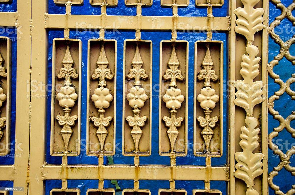 ornamental metal gate background stock photo