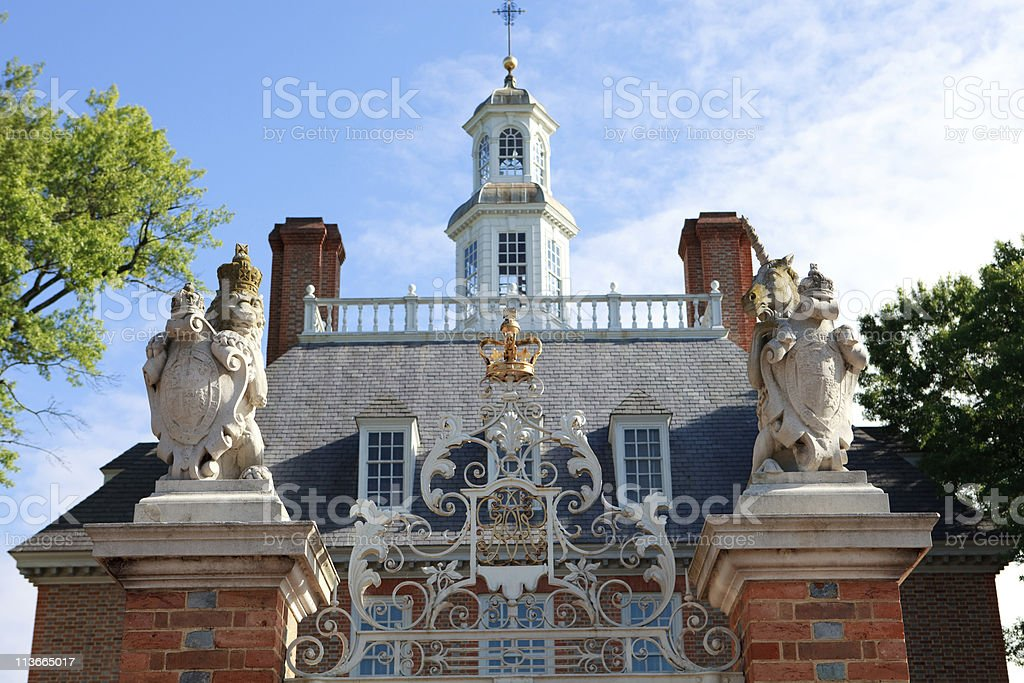 ornamental palace gate stock photo