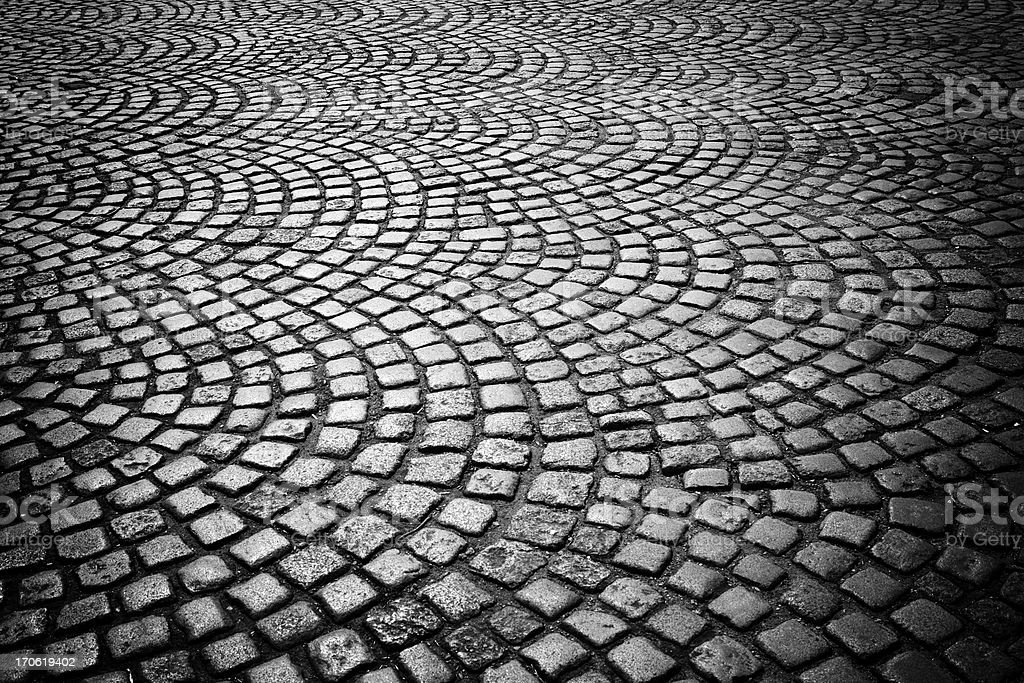 Ornamental paving stones royalty-free stock photo