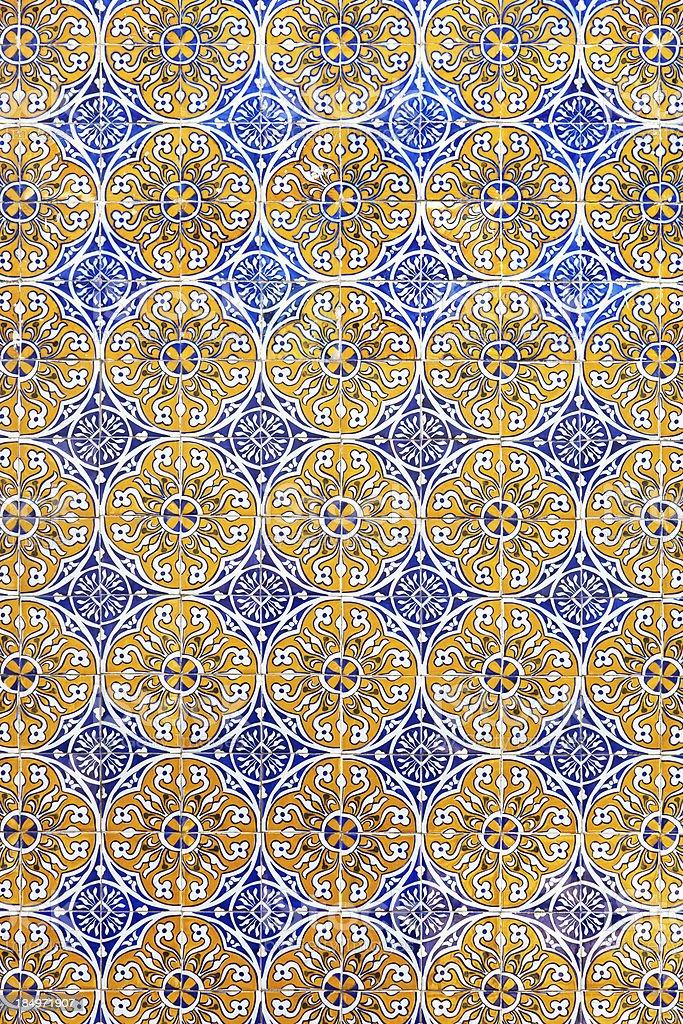 Ornamental Portuguese tiles - Azulejos royalty-free stock photo