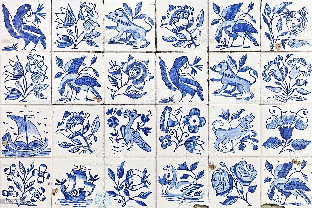 Ornamental Portuguese tiles - Azulejos stock photo