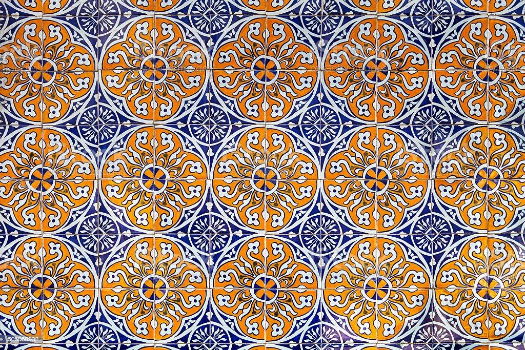 Ornamental Portuguese tiles stock photo