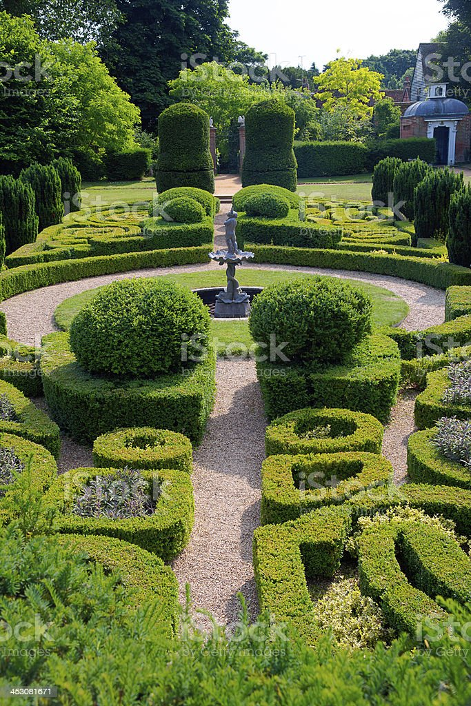 Ornamental Public Gardens and Topiary Bushes royalty-free stock photo