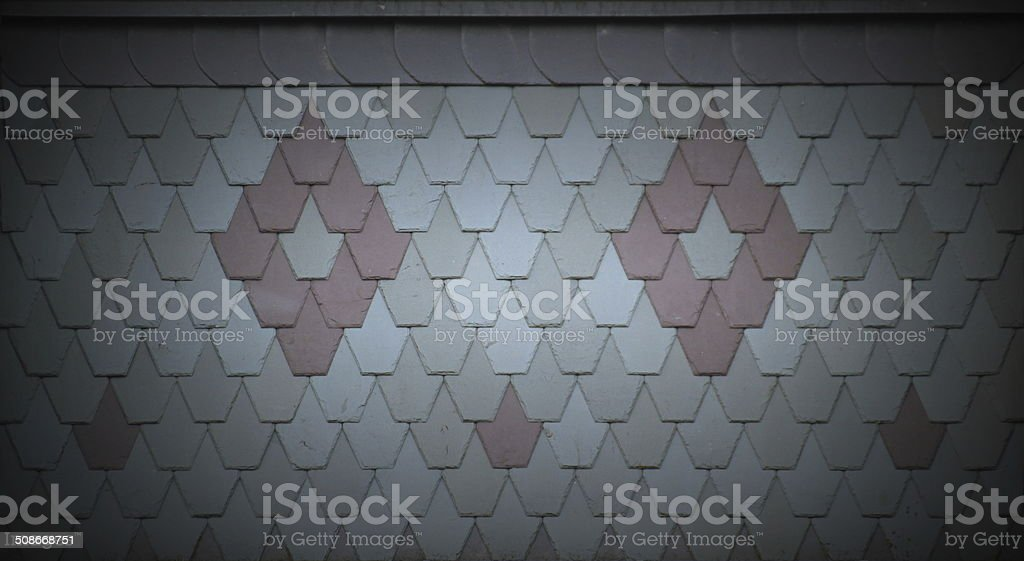 Ornamental Roof Tiles stock photo
