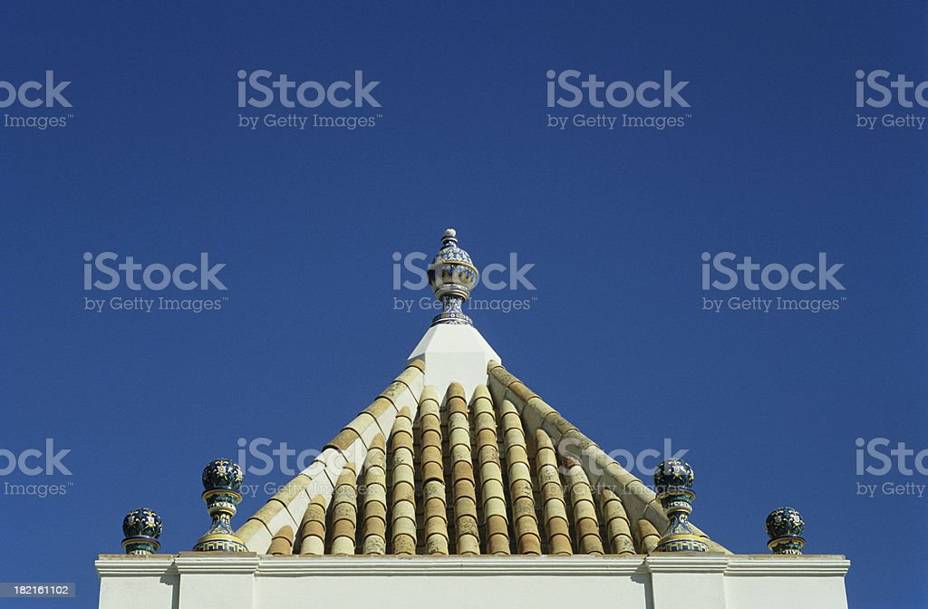 Ornamental Rooftop royalty-free stock photo