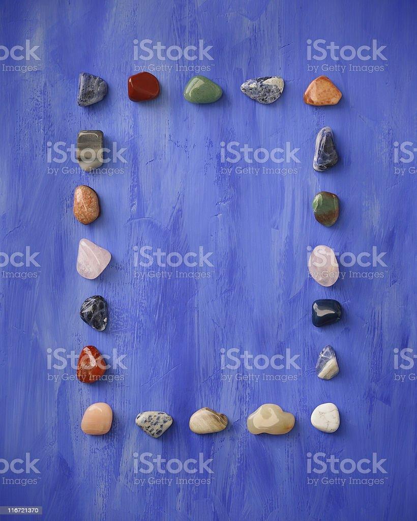 Ornamental Stone's Frame royalty-free stock photo
