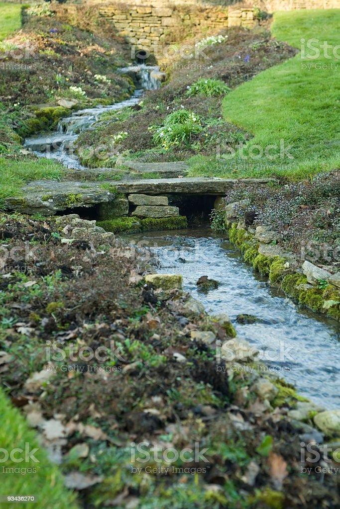ornamental waterfall royalty-free stock photo
