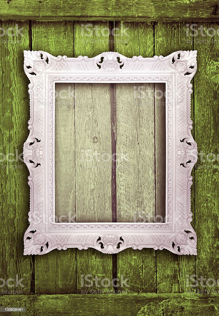 Ornamental white frame royalty-free stock photo