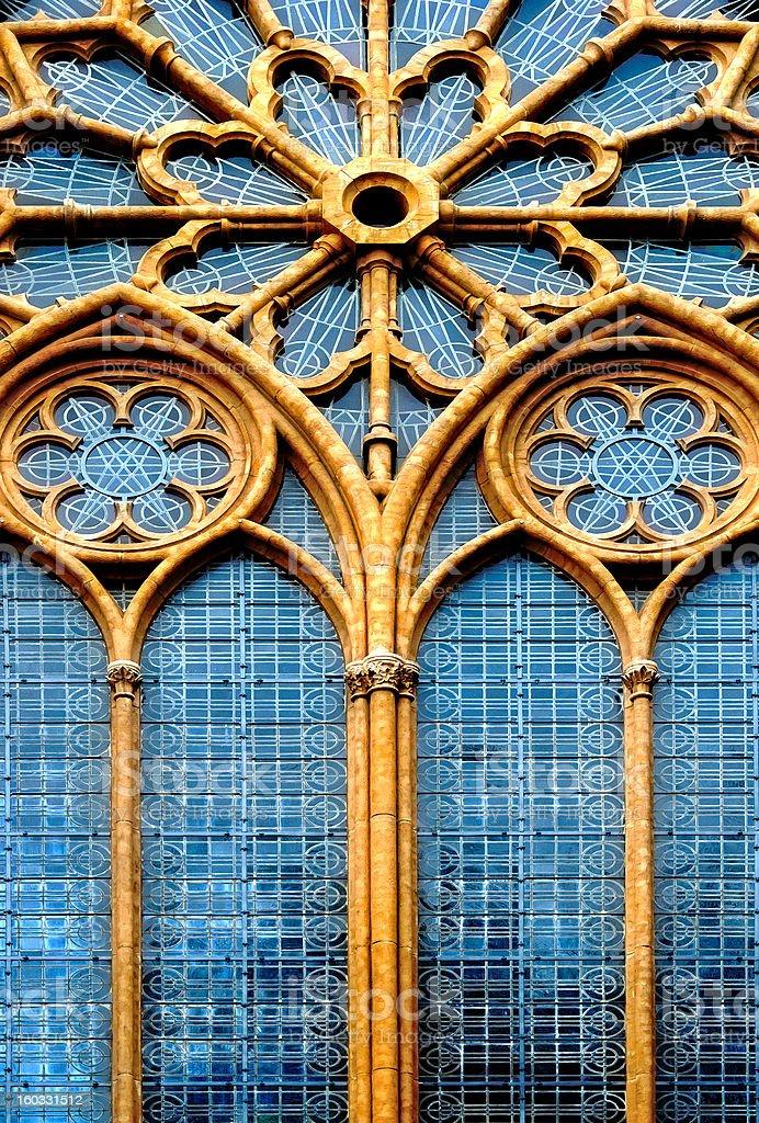 Ornamental  window of the church stock photo