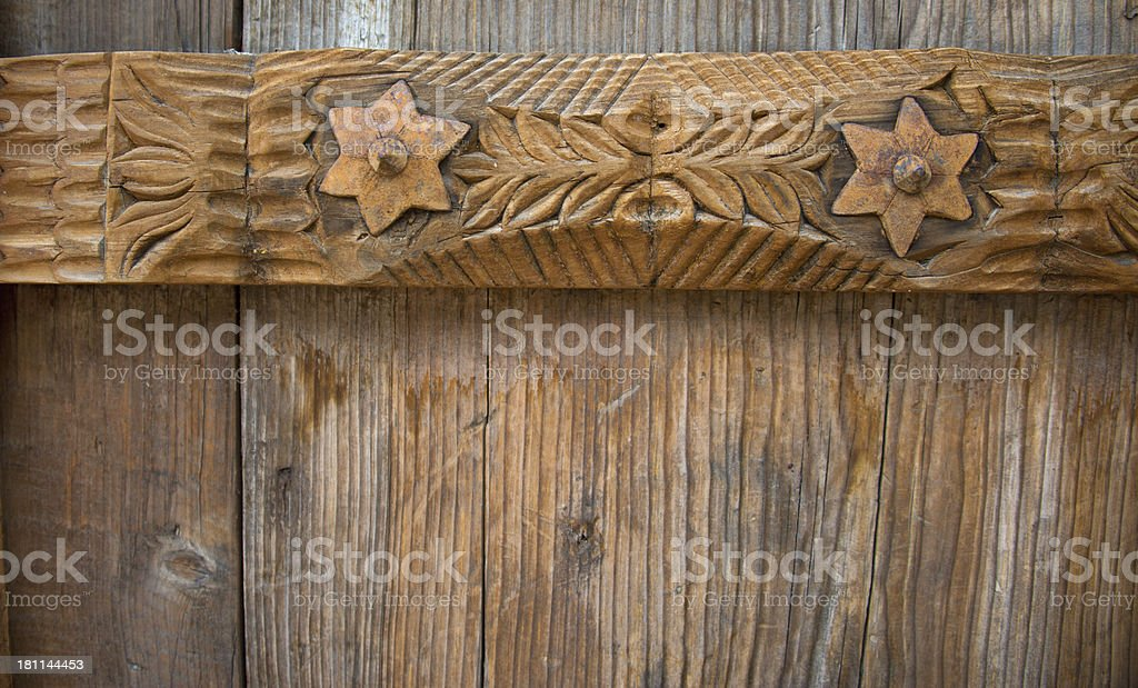 Ornamental Wood Carving Background royalty-free stock photo