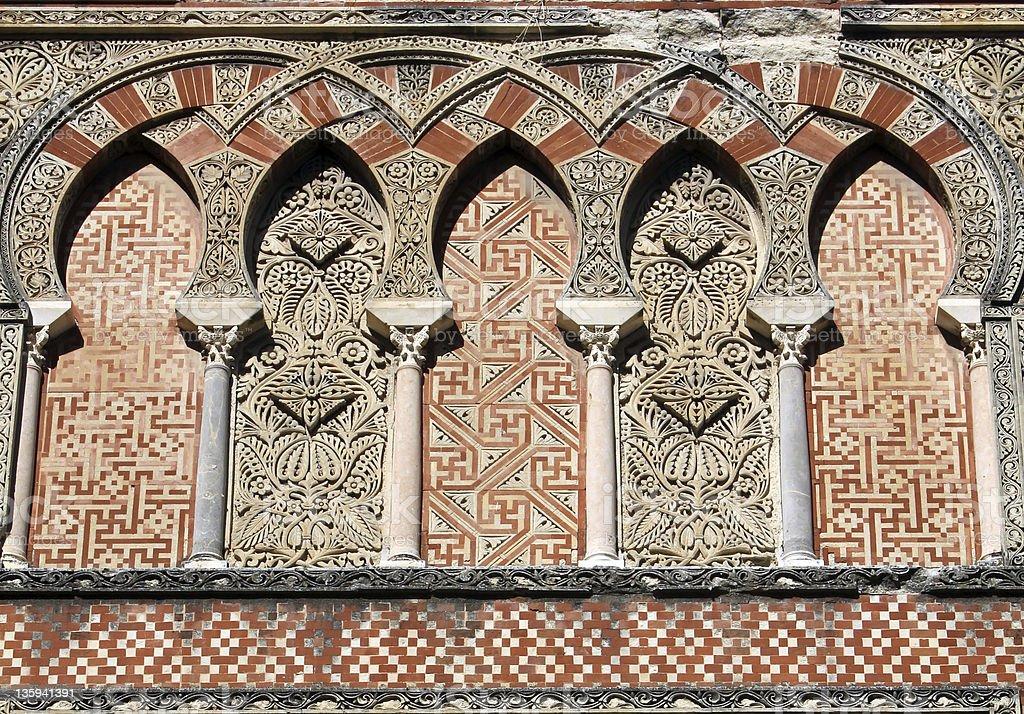 Ornamentation of the mosque in Cordoba stock photo