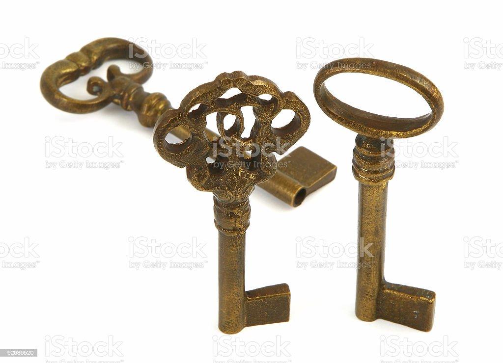 ornamented old keys stock photo