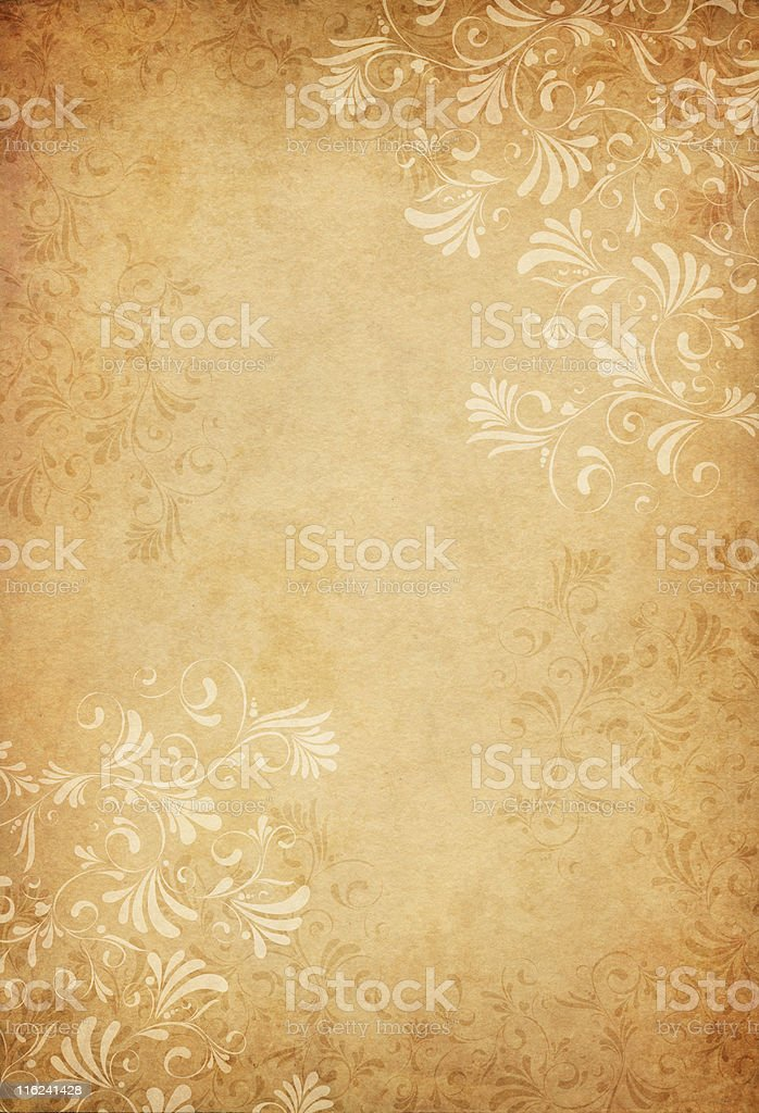 ornamented old paper royalty-free stock photo