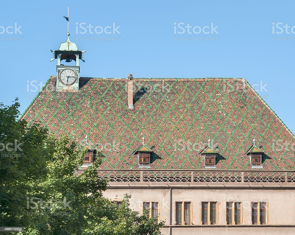 ornamented roof stock photo