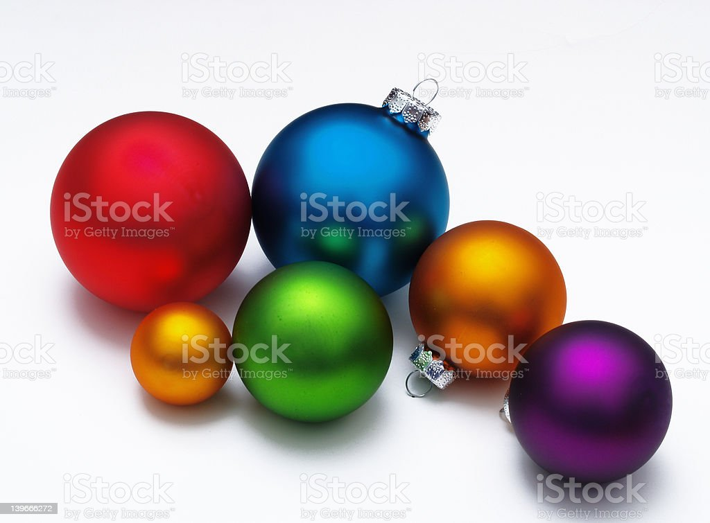 Ornaments in assorted Colors royalty-free stock photo
