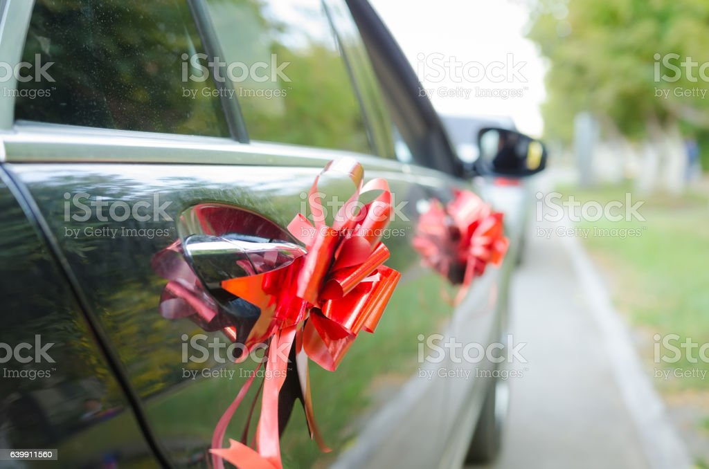 Ornaments of wedding machines stock photo