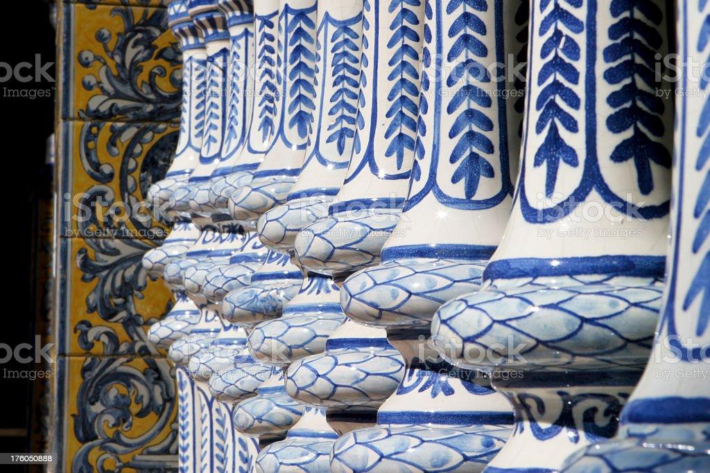 Ornaments on Plaza de Espana, Sevilla royalty-free stock photo