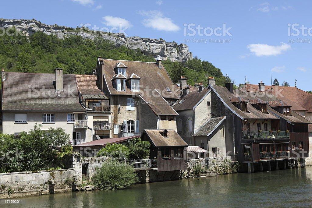 Ornans in Franche-Comté, France stock photo
