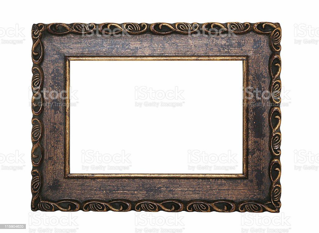 Ornate Black And Brown Frame royalty-free stock photo