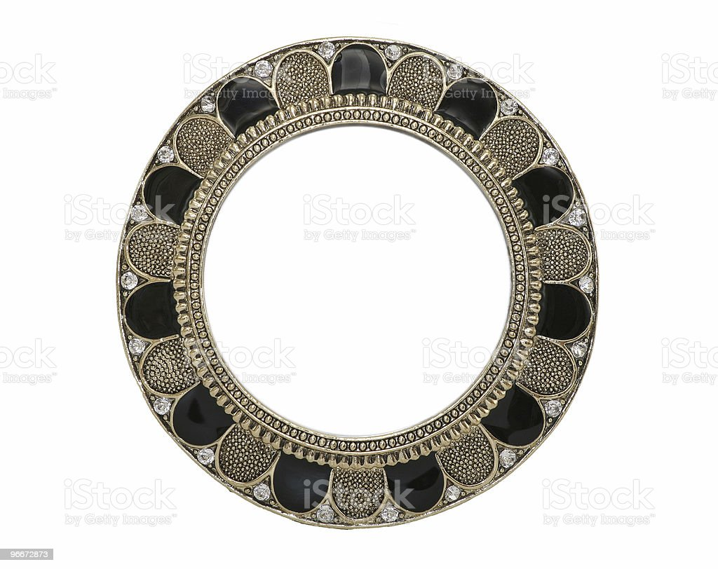 Ornate Black And Gold Frame royalty-free stock photo
