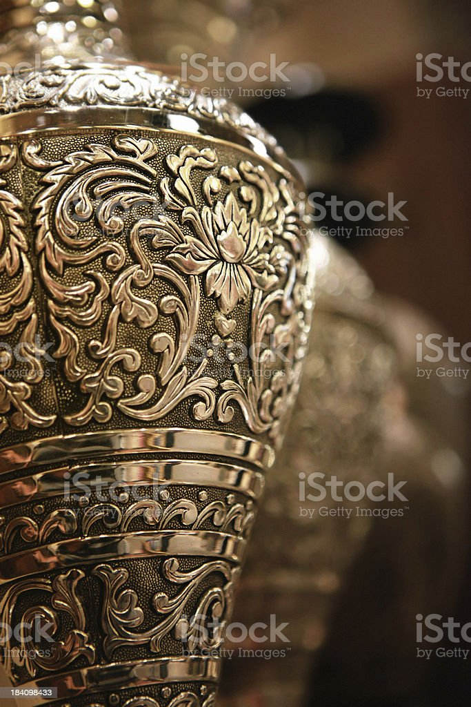 ornate brass artwork stock photo