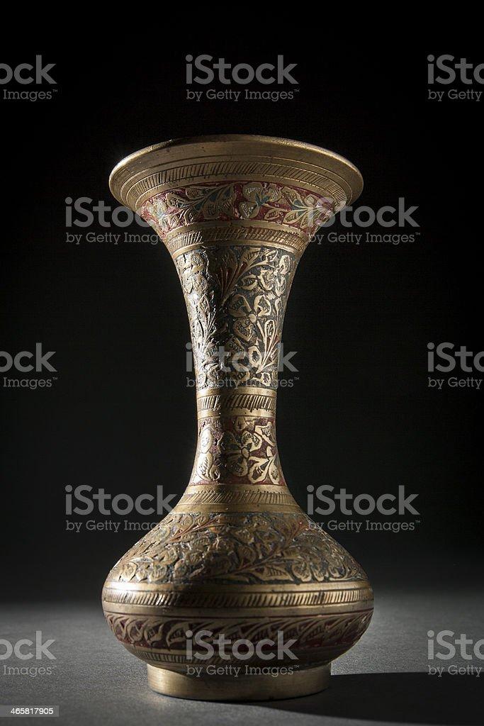 Ornate Brass Vase royalty-free stock photo