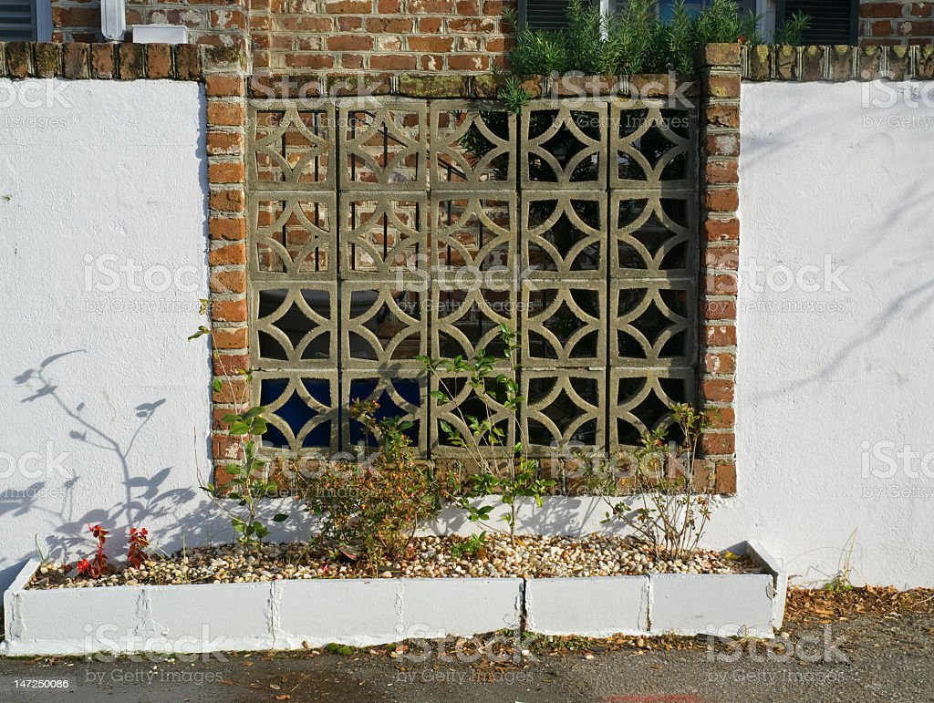 Ornate Brick Wall in Charleston, SC royalty-free stock photo