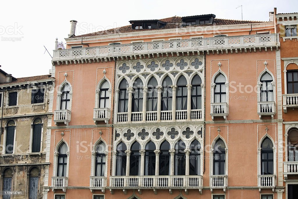 Ornate Building on Grand Canal Venice royalty-free stock photo
